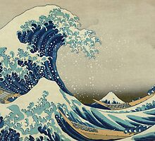 the great wave kanagawa japan by okeydokey