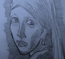 Girl   with  the  pearl  earring(A Copy) by Dale Tolley