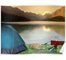 Corky's camping Poster