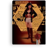 Napoleon Wore Frilly Knickers Canvas Print