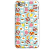 Breakfast Fun Pattern iPhone Case/Skin