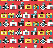 Colorful Toy Cameras Pattern by Cynthia Arre