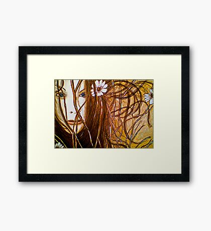 Wild Girl Framed Print