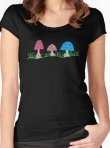toadstool fantasy Women's Fitted Scoop T-Shirt