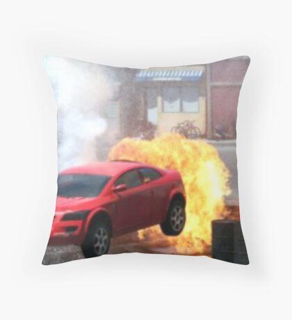 Car jump Throw Pillow