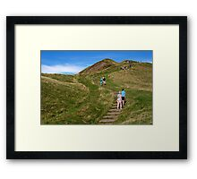 Walking Up Mam Tor Framed Print