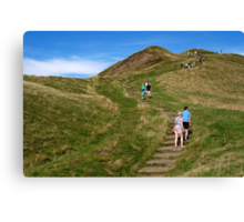 Walking Up Mam Tor Canvas Print