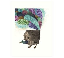 the birdhouse revisited  Art Print