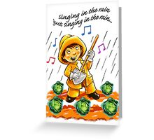 Singing in the Rain Greeting Card