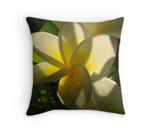 Yellow Fragapani-Soft Inner Glow Throw Pillow