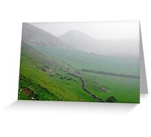 Along the Lower Reaches of Bunster Hill Greeting Card