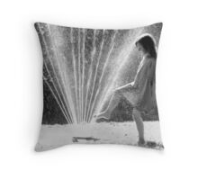 Testing the water! Throw Pillow