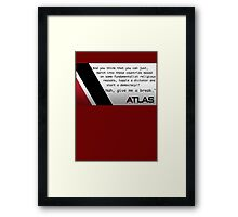 Atlas - Irons' speech on democracy Framed Print