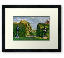 Gardens At Chirk Castle Framed Print