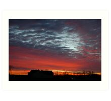 Sunrise from the past Art Print