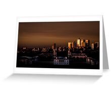 Greenwich and Canary Wharf Greeting Card