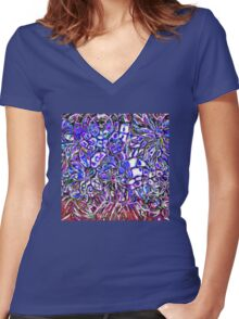 Glass Flowers Women's Fitted V-Neck T-Shirt