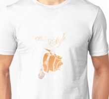 Italian style moped illustration in retro look  Unisex T-Shirt
