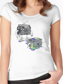 Revenge of the Radio star Women's Fitted Scoop T-Shirt