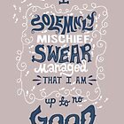I solemnly swear that I am up to no good by contradictoria