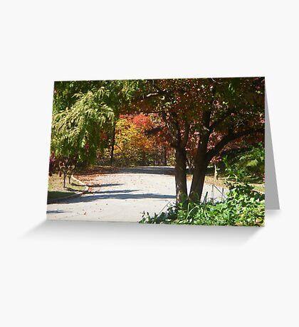 Autumn Street Greeting Card