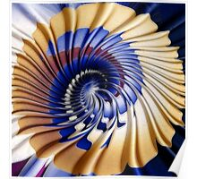 Twirling ripples Poster
