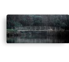 Bridge on the Lake - HDR Canvas Print