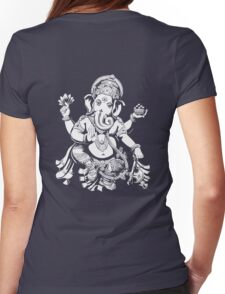 Lord Ganesh for dark colours Womens Fitted T-Shirt