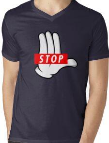 STOP ! Mens V-Neck T-Shirt