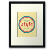 STYLE (colored) Framed Print