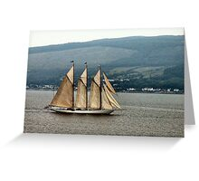 Schooner on the Clyde Greeting Card