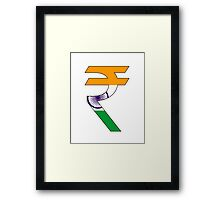 rupee symbol Framed Print