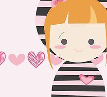 cute striped doll by claclina