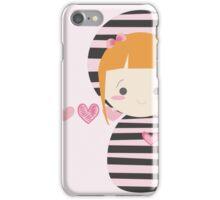 cute striped doll iPhone Case/Skin