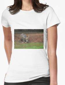Water Buffalo Entering Nasty Water Womens Fitted T-Shirt