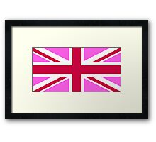 united kingdom pink flag Framed Print