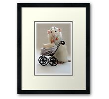 The goose who was adopted... Framed Print