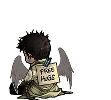 Supernatural - Castiel free hugs by Ladannnn