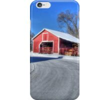 Snow On A Country Road iPhone Case/Skin