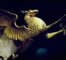 griffin statue in ohio, usa by chord0