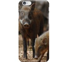 Mother Pig and Her Piglets iPhone Case/Skin