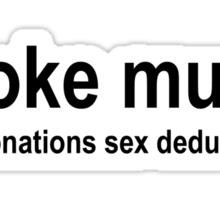 Broke Muso black Sticker