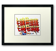 Street Fighter 2:  Leg Sweep Edition Framed Print