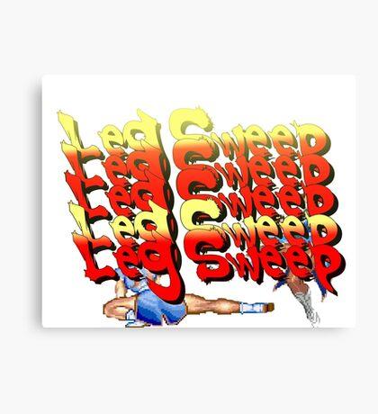 Street Fighter 2:  Leg Sweep Edition Canvas Print
