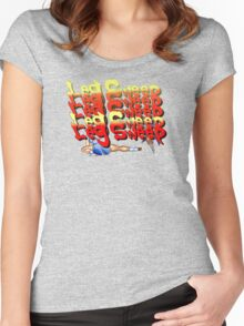 Street Fighter 2:  Leg Sweep Edition Women's Fitted Scoop T-Shirt