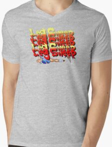 Street Fighter 2:  Leg Sweep Edition Mens V-Neck T-Shirt