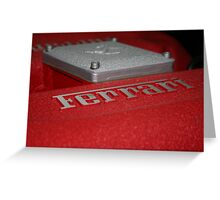 ferarri F40  Greeting Card