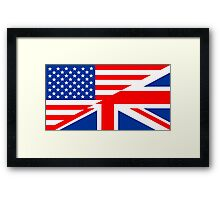 english language flag Framed Print