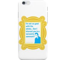 Chandler Bing - Sarcastic Comment - FRIENDS iPhone Case/Skin