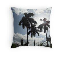 Florida Palm Trees Throw Pillow